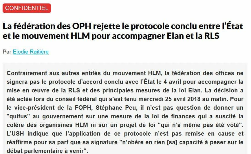 HLM : Désaccord Avec Le Gouvernement