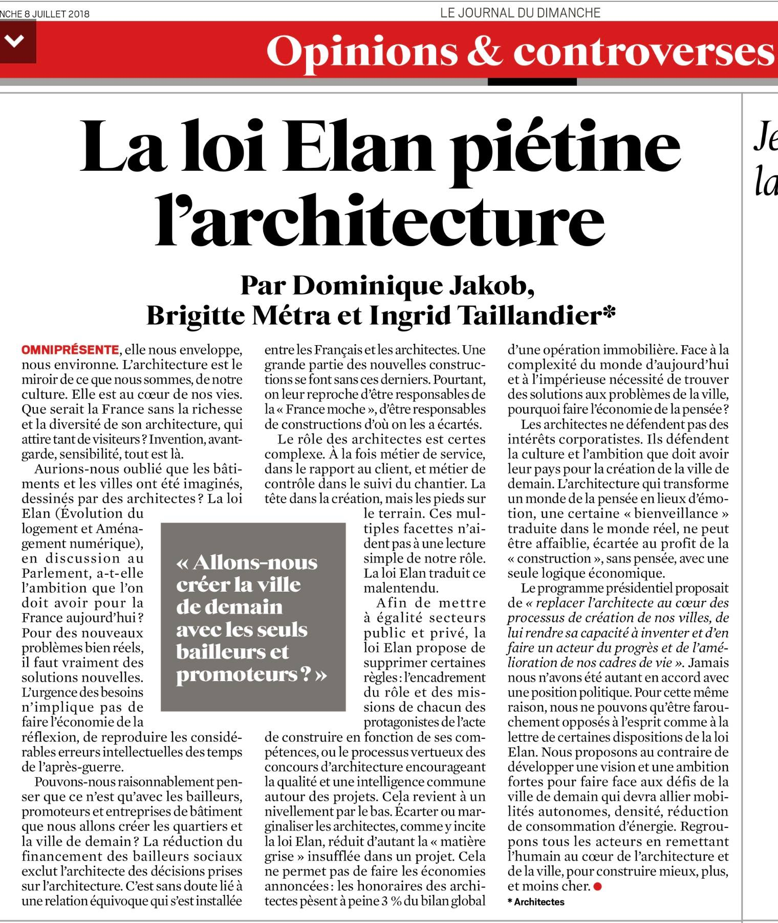 Tribune Architectes