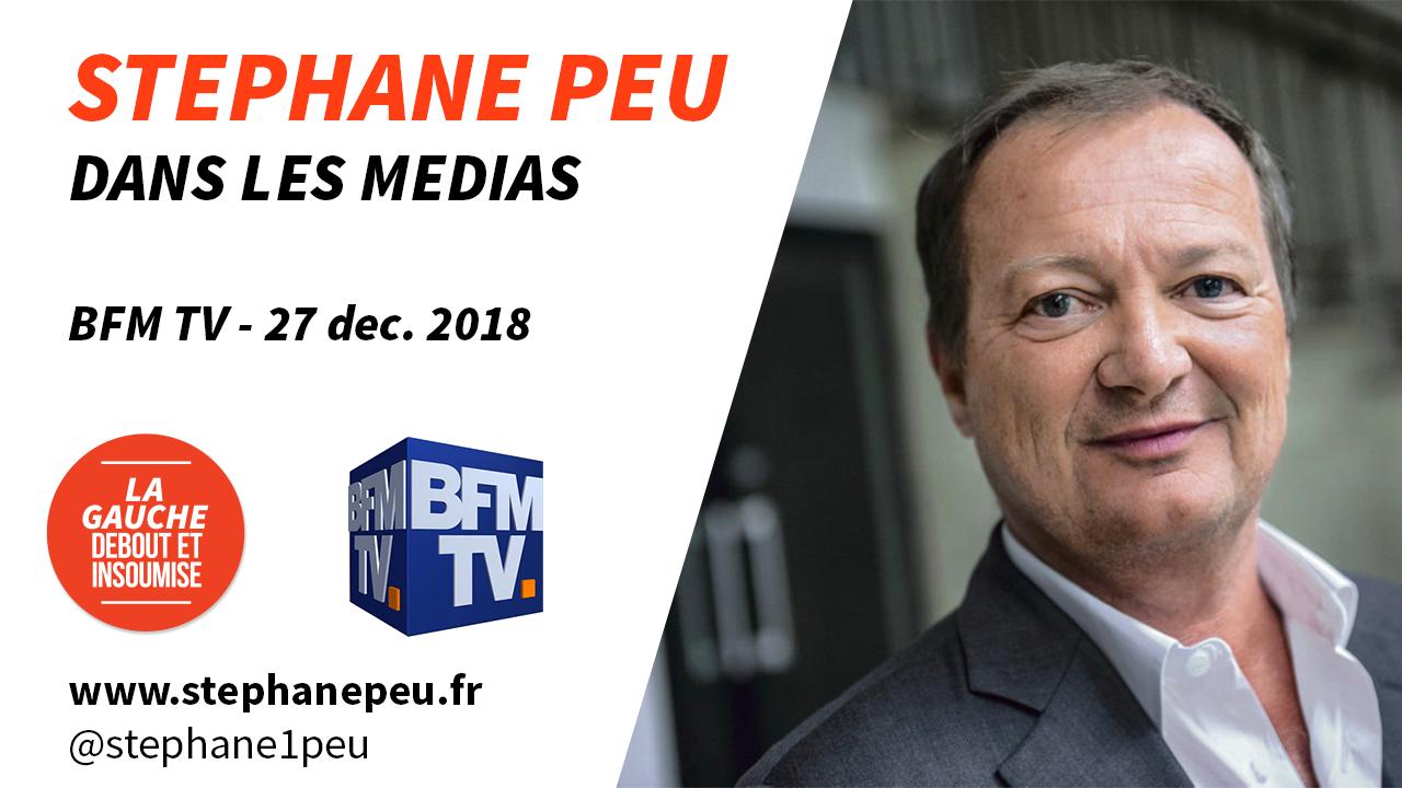 2019 Doit être L'année Du Pouvoir D'achat (BFM TV – 27 Décembre 2018)