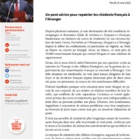Un Pont Aérien Pour Rapatrier Les Résidents Français à L'étranger