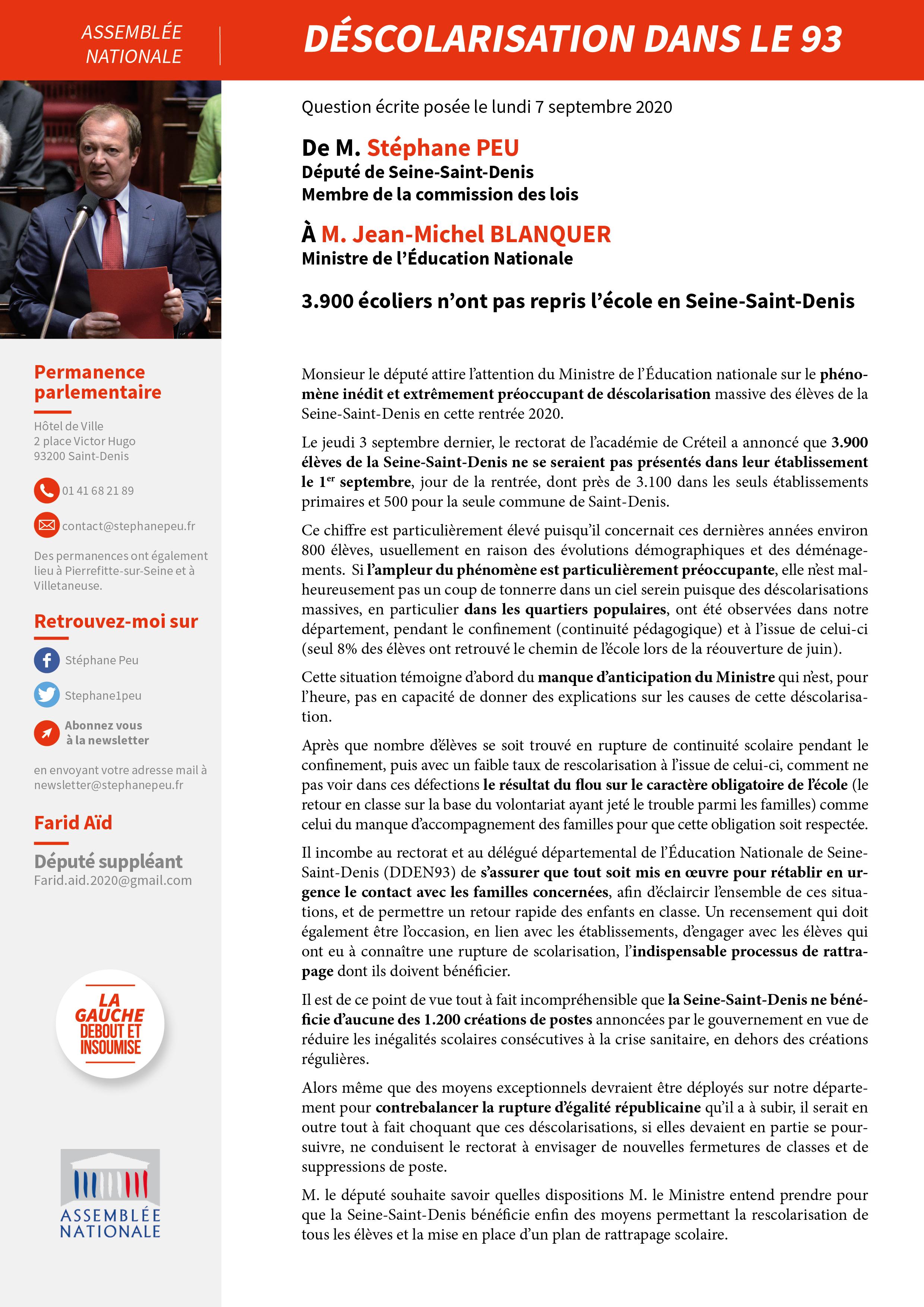 3.900 écoliers N'ont Pas Repris L'école En Seine-Saint-Denis