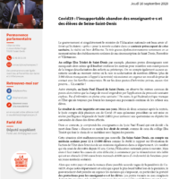 Covid19: L'insupportable Abandon Des Enseignant·e·s Et Des élèves De Seine-Saint-Denis