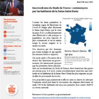 Vaccinodrome Du Stade De France : Commençons Par Les Habitants De La Seine-Saint-Denis