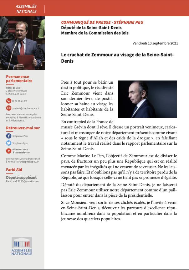 Le Crachat De Zemmour Au Visage De La Seine-Saint-Denis